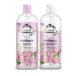 Kit Shampoo + Condicionador G.Hair Botânica 1 Litro Cabelos Normais