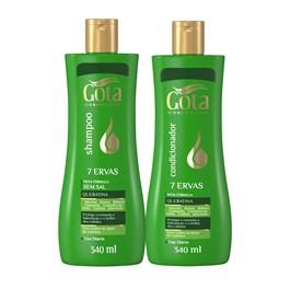 Kit Shampoo + Condicionador Gota Dourada 340 ml Cada 7 Ervas