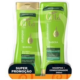 Kit Shampoo + Condicionador Gota Dourada 340 ml Cada Babosa