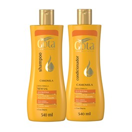 Kit Shampoo + Condicionador Gota Dourada 340 ml Cada Camomila