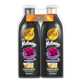 Kit Shampoo + Condicionador Gota Dourada 340 ml Cada Melanina UV