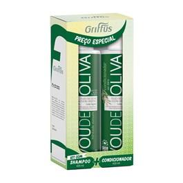 Kit Shampoo + Condicionador Griffus 420 ml Vou de Oliva