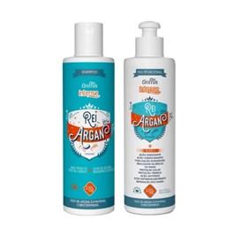 Kit Shampoo + Condicionador Griffus Intense 220 ml Rei Argan