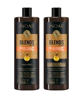 Kit Shampoo + Condicionador Inoar Blends 1000 ml Cada