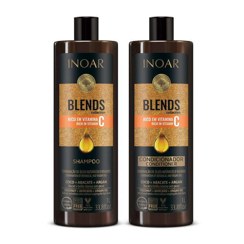 d2b2342ef Kit Shampoo + Condicionador Inoar Blends 1000 ml Cada - LojasLivia