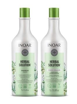 Kit Shampoo + Condicionador Inoar Herbal Solution 1000 ml Cada