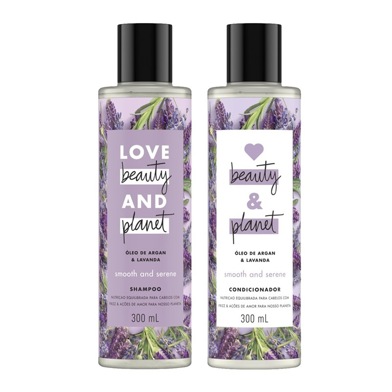 Kit Shampoo + Condicionador Love Beauty And Planet 300 ml Óleo de Argan & Lavanda