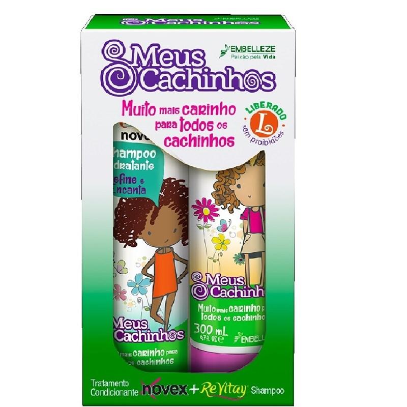 Kit Shampoo + Condicionador Novex Meus Cachinhos 300 ml Cada