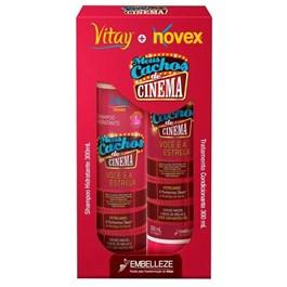 Kit Shampoo + Condicionador Novex Meus Cachos de Cinema 300 ml Cada