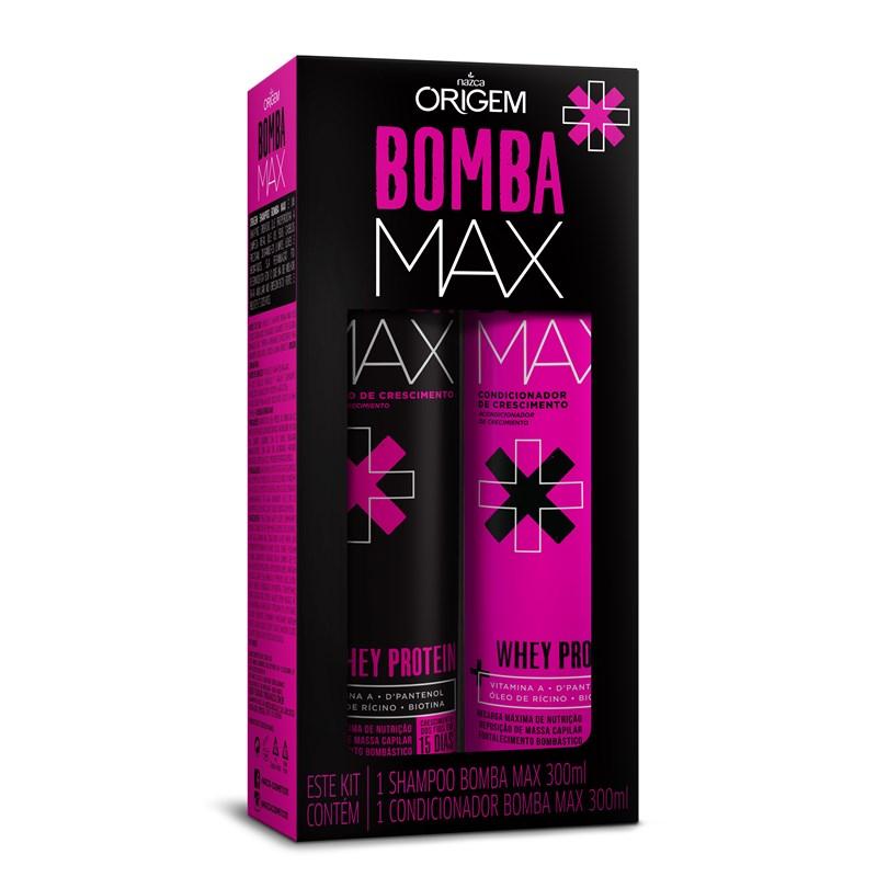 Kit Shampoo + Condicionador Origem Bomba Max Whey Protein