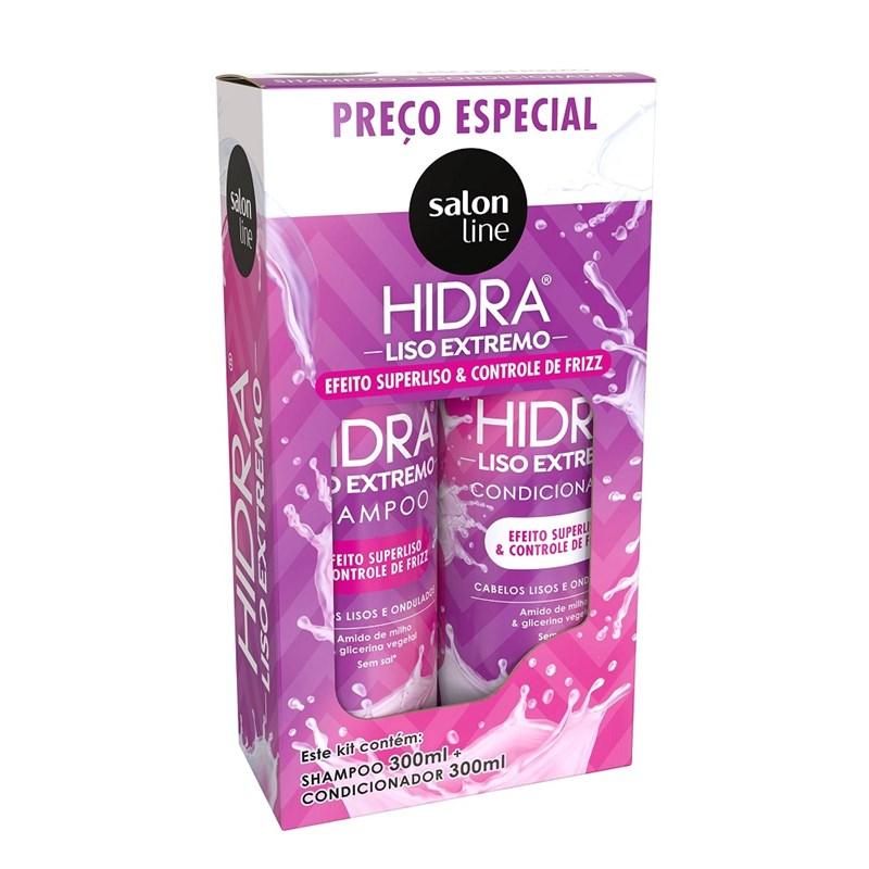 Kit Shampoo + Condicionador Salon Line Hidra 300 ml Cada Super Liso