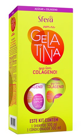 Kit Shampoo + Condicionador Sfera Gelatina 300 ml Cada