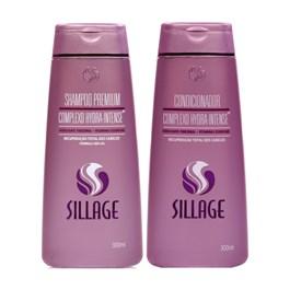 Kit Shampoo + Condicionador Sillage 300 ml Cada Complexo Hydra-Intense