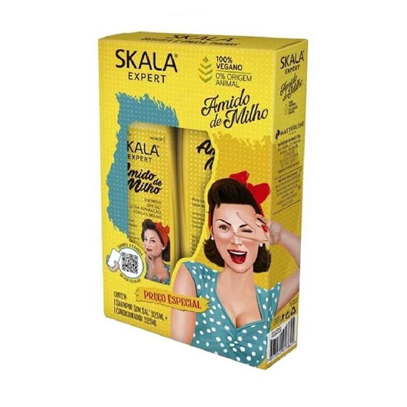 Kit Shampoo+Condicionador Skala 350 ml cada Amido de Milho