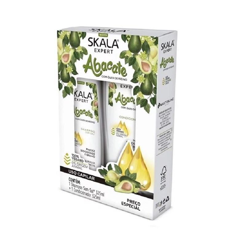 Kit Shampoo+Condicionador Skala 350 ml cada Bomba de Vitamina de Abacate