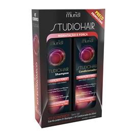 Kit Shampoo + Condicionador Studio Hair 250 ml cada Hidratação e Força
