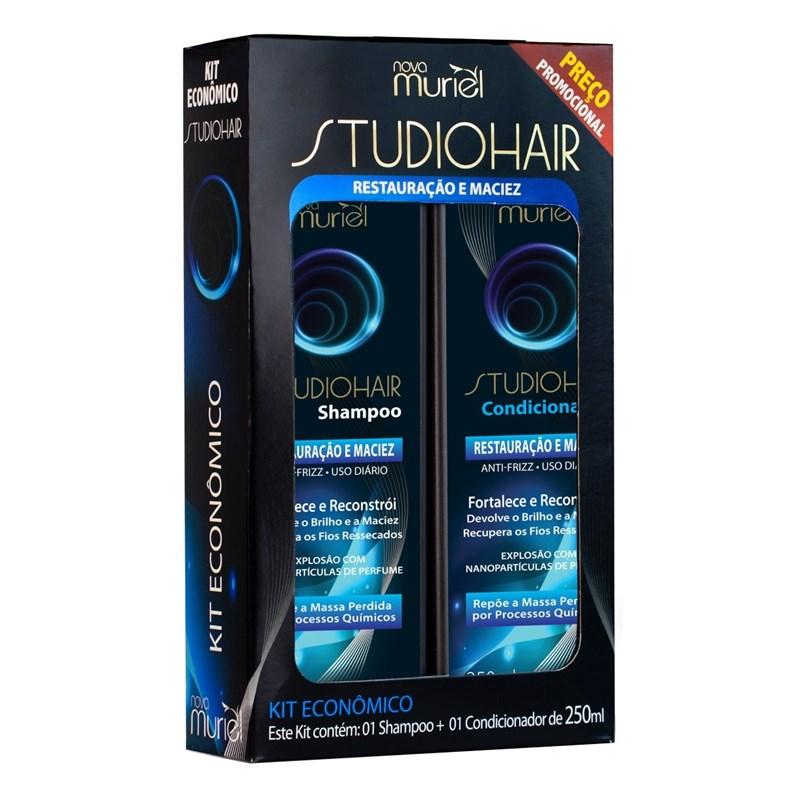 Kit Shampoo + Condicionador Studio Hair 250 ml cada Restauração e Maciez