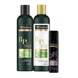 Kit Tresemmé Baixo Poo + Nutrição 400 ml Grátis Shampoo a Seco