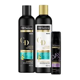 Kit Tresemmé Cachos Definidos 400 ml Grátis Shampoo a Seco