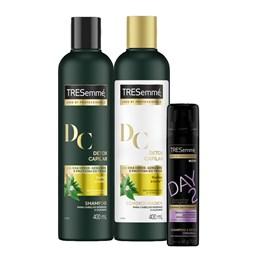 Kit Tresemmé Detox Capilar 400 ml Grátis Shampoo a Seco