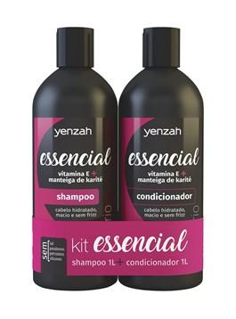 Kit Yenzah Essencial Shampoo + Condicionador 1000 ml Cada