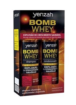 Kit Yenzah Shampoo + Condicionador Whey Bomb 240 ml Cada