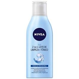 Leite de Limpeza e Tonico Nivea 200 ml Todos os Tipos de Pele