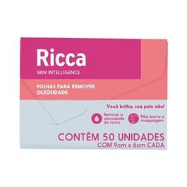 Lenço Removedor de Oleosidade Ricca   Com 50 Unidades