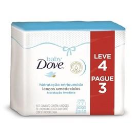 Lençoes Umedecidos Dove Baby Hidratação Enriquecida 200 Unidades