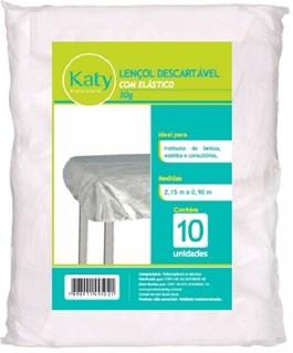 Lençol Descartável Katy Com Elástico 10 Unidades