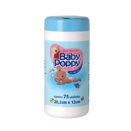 Lenços Umedecidos Baby Poppy 75 unidades Azul