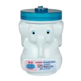 Lenços Umedecidos Baby Poppy Elefante 150 unidades Azul