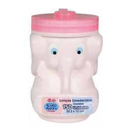 Lenços Umedecidos Baby Poppy Elefante 150 unidades Rosa