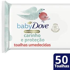 Lenços Umedecidos Dove Baby Hidratação Enriquecida 50 Unidades