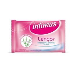 Lenços Umedecidos Femininos Intimus 16 unidades Uso Diário