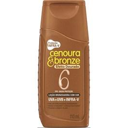Loção Bronzeadora Cenoura e Bronze FPS 6 110 ml Efeito Dourado
