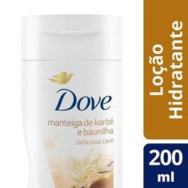 Loção Hidratante Dove Delicious Care 200 ml Manteiga de Karité e Baunilha
