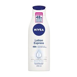 Loção Hidratante Nivea Lotion Express 200 ml Todos os Tipos de Pele