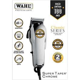 Máquina para Corte Wahl Super Taper Chrome 127V