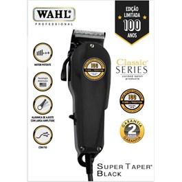 Máquina para Corte Wahl Super Taper Preta 127V