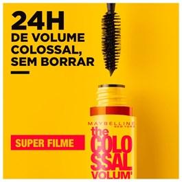 Máscara de Cílios Maybelline The Colossal Super Filme Preto