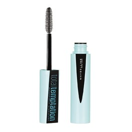 Máscara de Cílios Maybelline Total Temptation Waterproof Blackest Black