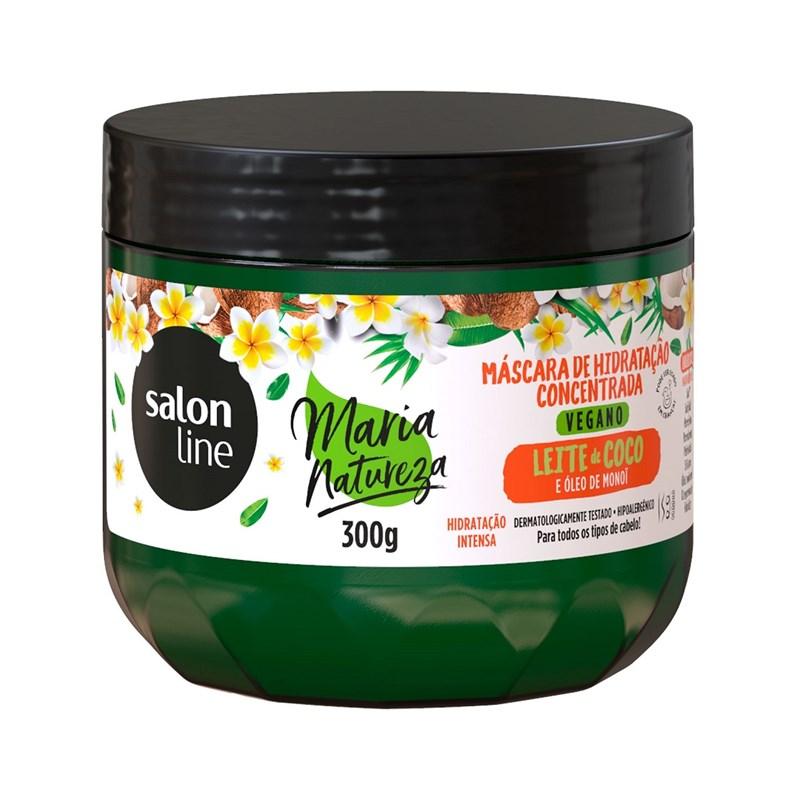 Mascara de Hidratação Salon Line Maria Natureza 300 gr Leite de Coco & Oleo de Monoi