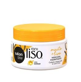 Máscara de Hidratação Salon Line Meu Liso 300 gr #Muito + Liso Amido de Milho Capilar