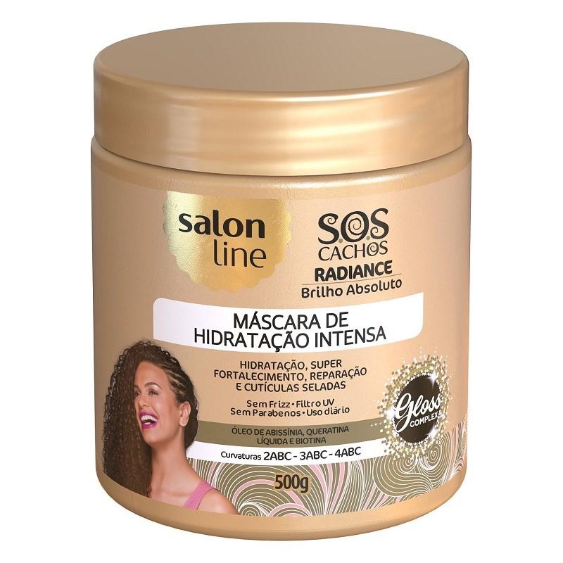 8f5224352 Máscara de Hidratação Salon Line S.O.S Cachos 500 gr Radiance Brilho  Absoluto