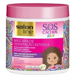 Mascara de Hidratação Salon Line S.O.S Cachos Kids 500 gr Camomila e Aloe Vera