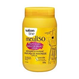 Máscara de Maionese Salon Line Meu Liso 500gr #Muito + Liso Amido de Milho Capilar