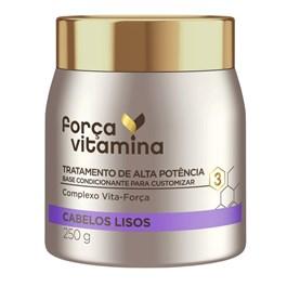 Máscara de Tratamento Força Vitamina 250 gr Cabelos Lisos