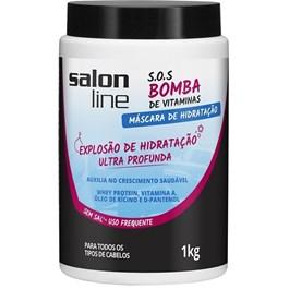 Máscara de Tratamento Salon Line S.O.S Bomba 1 kg Explosão de Hidratação