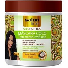 Máscara de Tratamento Salon Line S.O.S Cachos 500 gr Coco